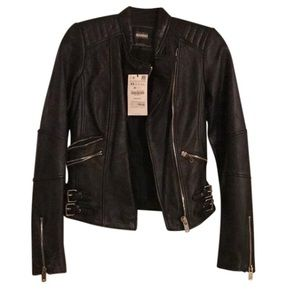 Zara genuine leather size xs